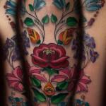 Flower Art Tattoo Designs For Men