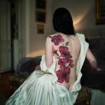Flower Back Art Tattoo Designs
