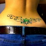 Flower Butterfly Lower Back Tattoo Designs