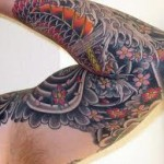 Flower Full Sleeve Creative Tattoo Designs For Men