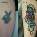 Flower Tattoo Cover Up