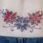Flowers Lower Back Tattoo Designs