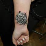 Flowers Wrist Tattoo Designs For Girls