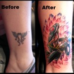 Frog Cover  Up Tattoo