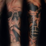 Full Sleeve Fire Tattoo Designs For Men