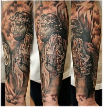 full sleeve unique religious tattoo designs for men tattoo love. Black Bedroom Furniture Sets. Home Design Ideas