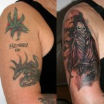 Great  Skull Cover  Up Tattoo
