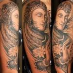 Gypsy Woman Half Sleeve Tattoo Designs