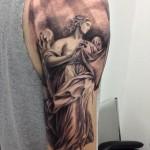 Half Sleeve Tattoo Designs Black And Gray Angel