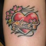 Heart Name Tattoo Designs