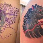Horse Tattoo Cover Up