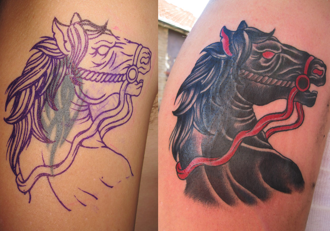 horse tattoo cover up tattoo love. Black Bedroom Furniture Sets. Home Design Ideas