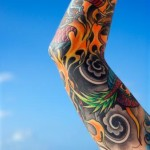 Inner Arm Flame Tattoo Designs
