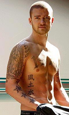 justin timberlake famous celebrity tattoo tattoo love