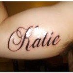 Katie Name Tattoo Designs