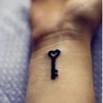 Key Tattoo Wrist Designs For Girls