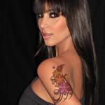 Kim Kardashian Female Celebrity Tattoos