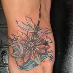 Lotus Flower Foot Tattoo Designs