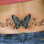 Lower Back Butterfly Tattoo Designs