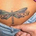 Lower Back Dragonfly Tattoo Designs