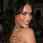 Megan Fox Famous Celebrity Tattoo