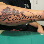 Name Arm Rose Tattoo Designs