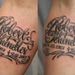 Name Tattoo Designs On Arm For Men