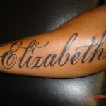 Name Tattoo Designs On Arm