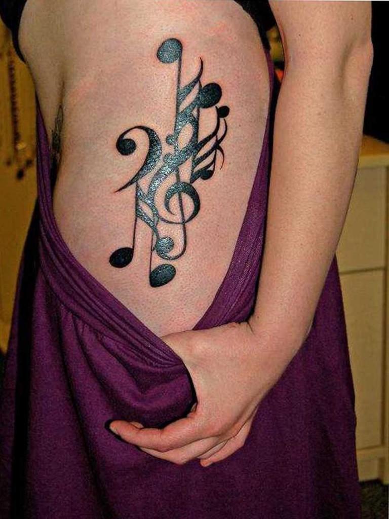 new music tattoo designs tattoo love. Black Bedroom Furniture Sets. Home Design Ideas