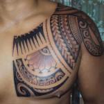 Ninja Chest Tattoo For Men