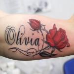 Olivia Name Tattoo Designs