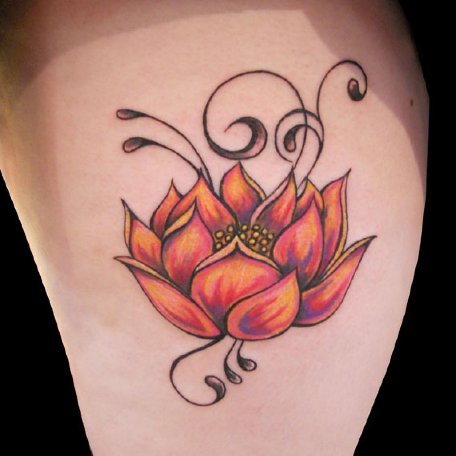 Orange lotus flower tattoo designs tattoo love orange lotus flower tattoo designs izmirmasajfo Choice Image