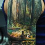 Paradise Half Sleeve Classic Tattoo Designs