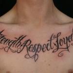 Phrases Chest Tattoo For Men