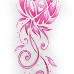 Pink Design Lotus Flower Pattern