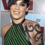 Pink Female Celebrity Tattoos