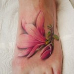 Pink Lily Cool Tattoo Designs