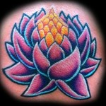 Pink Lotus Flower Shoulder Tattoo Designs