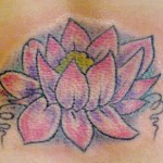 Pink Lotus Flower Tattoo Small Designs