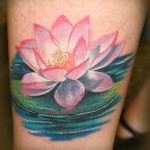 Pink Lotus Tattoo Designs