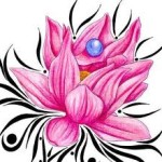 Pink Tribal Lotus Flower Tattoo Designs