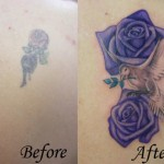 Purple Roses Cover  Up Tattoo