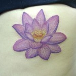 Purple Small Lotus Tattoo Designs