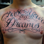 Quotes Chest Tattoo For Men
