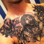 Religious Chest Tattoo For Men