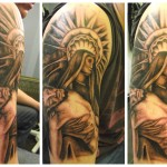 Religious Full Sleeve Tattoo Designs For Men