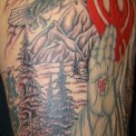 Religious Half Sleeve Crosses Tattoo Designs