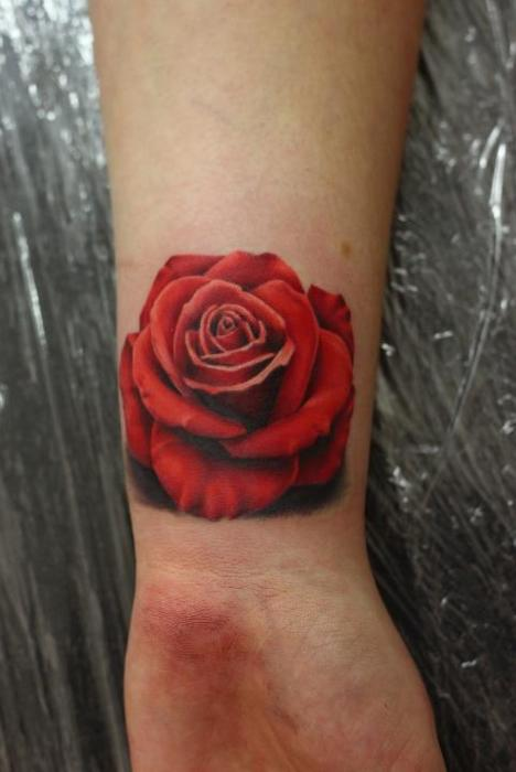 rose wrist tattoo designs for girls tattoo love. Black Bedroom Furniture Sets. Home Design Ideas