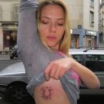Scarlet Johansson Female Celebrity Tattoos