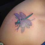 Shoulder Creative Dragonfly Tattoo Designs For Women